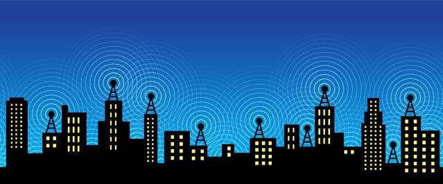 """Metáfora visual de la comunicación """"wireless"""""""