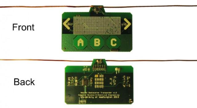 Transpondedor con backscattering ambiental