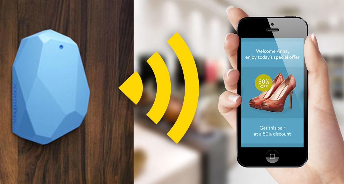 Modelo figurado de interacción iBeacon-Smartphone
