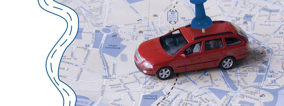 Metáfora visual de un sistema de localización en tiempo real