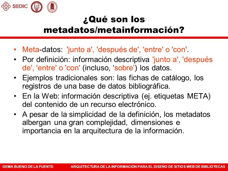 """Definición corta y didáctica de """"metadatos"""" o """"metainformación"""""""